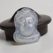 起荧玻璃种翡翠观音头像-1
