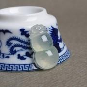 睛水玻璃种翡翠招财葫芦-E17