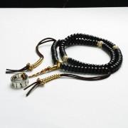 佛教六字大明咒真言银戒环108佛珠-ZH006