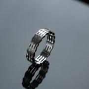 道家镂空八卦纯银戒指-2GH01