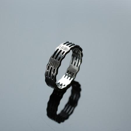 道家镂空八卦纯银戒指-2GH02
