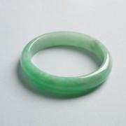苹果绿翡翠平安手镯(59mm)-17JL04