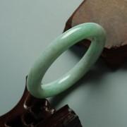 浅绿翡翠圆条手镯(56mm)-17JL01