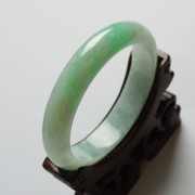 苹果绿翡翠平安手镯(57mm)-17JL16