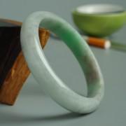 苹果绿翡翠平安手镯(59mm)-17JL08