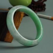 苹果绿翡翠平安手镯(56mm)-17JL06