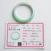 苹果绿翡翠平安手镯(56mm)-17JL09