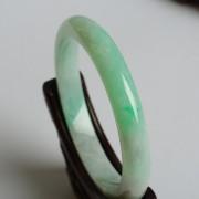 苹果绿翡翠平安手镯(55mm)-17JL11
