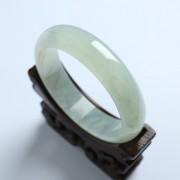冰种翡翠扁条手镯(56mm)-17KA02