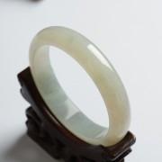 冰种翡翠扁条手镯(58mm)-17KA05