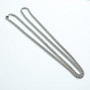 钛钢龙骨玉米项链3mm\4mm