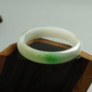 阳绿冰种正圈翡翠手镯(57mm)21L40-1