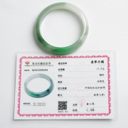 阳绿冰种正圈翡翠手镯(57mm) 21L40-2