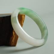 阳绿冰种正圈翡翠手镯(57mm) 21L40-4