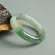 阳绿冰种正圈翡翠手镯(56mm) 21L40-3